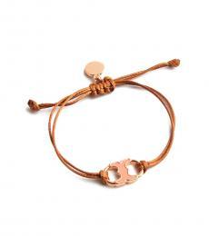 Tory Burch Camel-Pink Embrace Ambition Bracelet