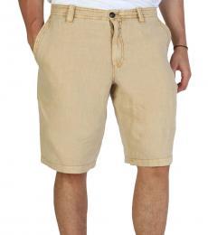Armani Jeans Beige Regular Fit Shorts