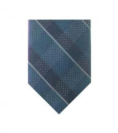 Michael Kors Navy Split Square Plaid Tie