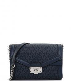 Michael Kors Black Kinsley Medium Shoulder Bag