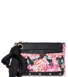 Juicy Couture Black In Bloom Floral Medium Crossbody