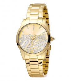 Just Cavalli Gold Logo Modish Watch