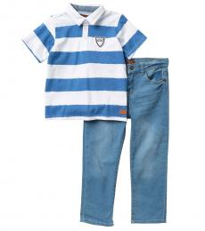 7 For All Mankind 2 Piece Polo/Jeans Set (Little Boys)