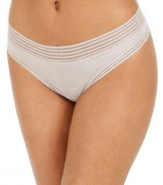 Calvin Klein Natural Striped-Waist Thong Underwear