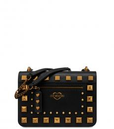 Love Moschino Black Studded Medium Shoulder Bag