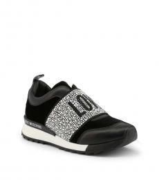 Love Moschino Black Rhinestone Logo Sneakers