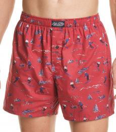 Ralph Lauren Red Printed Woven Boxers