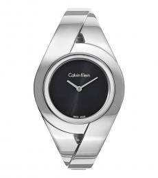 Calvin Klein Silver-Black Dial Watch