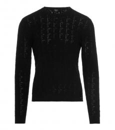 Fendi Black Allover Logo Sweater