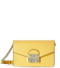Karl Lagerfeld Yellow Corinne Mini Crossbody Bag