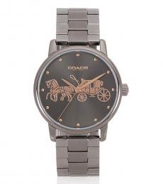 Coach Metallic Grey Dial Watch