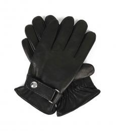 Ralph Lauren Black Leather Gloves