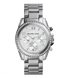 Michael Kors Silver Blair Chrono Dial Watch