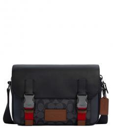 Coach Navy Blue Track Medium Messenger Bag