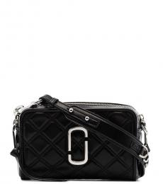 Marc Jacobs Black Quilted Softshot Small Crossbody Bag