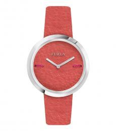 Furla Orange Edgy Stately Watch