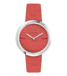Furla Orange Edgy Stately Watch