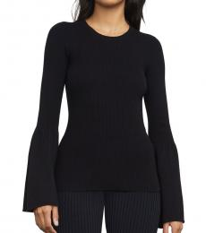 Black Bell-Sleeve Top