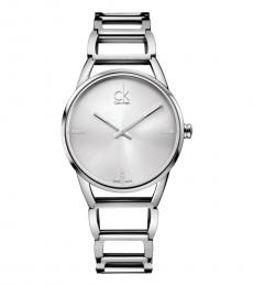 Silver Gleaming Groovy Watch