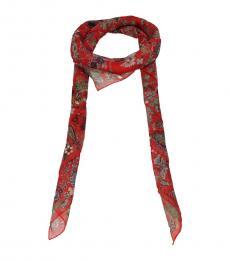Alexander McQueen Red Stylish Modish Scarf