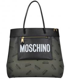 Moschino Black Logo Large Tote