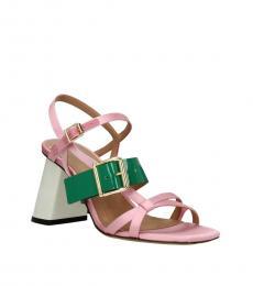 Marni Pink Open Toe Slingback Heels