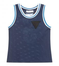 Stella McCartney Boys Navy Mesh Vest