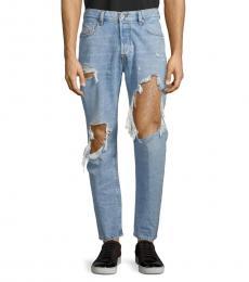 Denim Mharky Distressed Slim Skinny-Fit Jeans