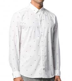Kenzo White Printed Cotton Shirt