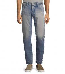 AG Adriano Goldschmied Light Blue Slim Straight-Leg Jeans