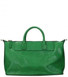 Green Solid Large Satchel