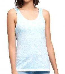Turquoise Scoop Neck Tank Top