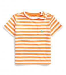 Ralph Lauren Baby Boys Thai Orange Striped T-Shirt