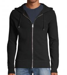 Black Full-Zip Stretch Hoodie