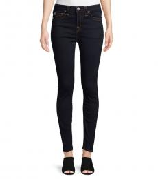 Dark Wash Halle High-Rise Skinny Jeans
