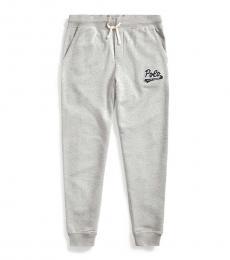 Ralph Lauren Boys Andover Heather Logo-Patch Pants