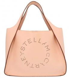 Stella McCartney Pink Logo Large Tote
