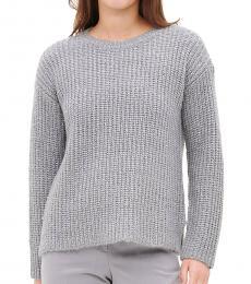 Calvin Klein Light Grey Sequin Crewneck Knit Sweater