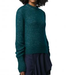 Chloe Teal Crewneck Sweater