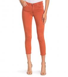 AG Adriano Goldschmied Sulfur Turmeric Prima Crop Jeans