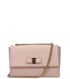 Salvatore Ferragamo Pink Ginny Medium Shoulder Bag