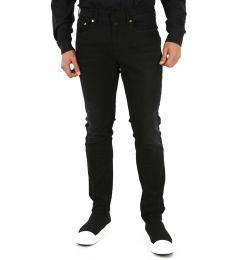 Black Stonewashed Skinny Fit Jeans