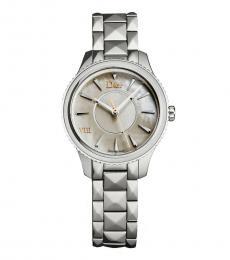 Christian Dior Silver Montaigne Watch