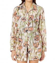 Multi color Printed Beach Tunic Cover-Up