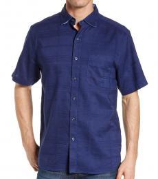 Dark Blue-Costa Tautira Short Sleeve Shirt
