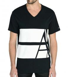 Armani Exchange Navy Blue Slim Fit Logo T-Shirt