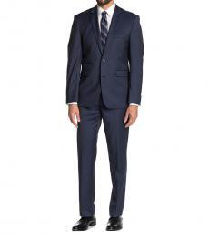 Dark Blue Notch Lapel Slim Fit Suit