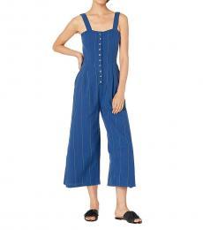 Billabong Blue Woven Jumpsuit