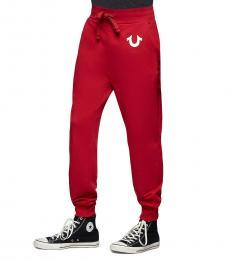 True Religion Red Solid Jogger