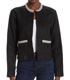 Tommy Bahama Black Embellished Lux Linen Jacket